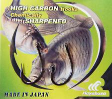 HAYABUSA H. Bil 288 pêche à la carpe Crochets annelé tailles 4,6, 8. 10 Hooks