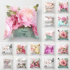 Pillow Case Floral Cushion Cover Home Office Bedroom Sofa Car Waist Throw Decor