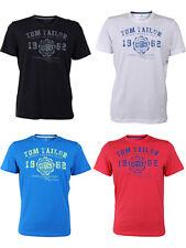 Tom Tailor Rundhals T-Shirt Logo verschiedene Farben + Farbvarianten 4er Pack