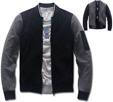 Mens Slim Fit Urban Baseball Jumper Blouson Jacket Blazer Outwear Top W010 - S/M
