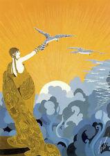 Wings of Victory 22x30 Art Deco Print by Erte