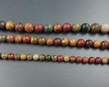 6-10mm jasper beads round loose gemstone bead 15''