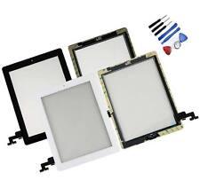 Vitre tactile Noir Blanc pour iPad 2 A1396 Bouton Nappe & Home Adhésif Installé