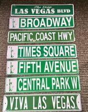 US Strassenschilder Time Square Central Park Broadway Sunset Strip Vegas  60x12
