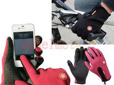 Guantes Invierno para Pantallas Táctiles smartphone tablets Bici Esqui Rojo