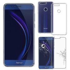 Pour Huawei Honor 8 - Pack Etui Coque Housse portefeuille + verre trempé