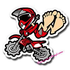 2 X Brillantes Pegatinas De Vinilo-Motocross Dirt Bike Caja De Herramientas Laptop calcomanía # 0083