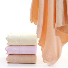 100% Cotton Plain Rose Lace Large Beach Bath Towel Wedding Gift Soft 70x140cm