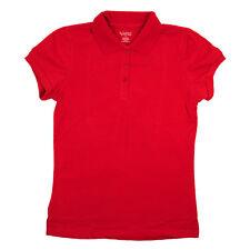 Rouge JUNIORS Polo classique manches courtes coupe mince tailles de chemise S-L