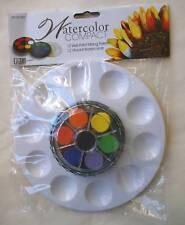 Compact Watercolor Paint Set 10 pc w Palette
