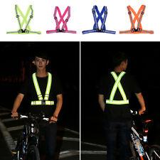 Joggen Laufen Radfahren Sicherheit Reflektierende Weste Band Gürtel Verstellbar