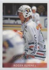 1995-96 Leaf Elit Set Sweden 121 Roger Elvenes Rogle BK (SHL) Rookie Hockey Card