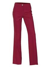 Pantalón de mujer confort fit Pliegues CHINOS Stretch rojo 072533
