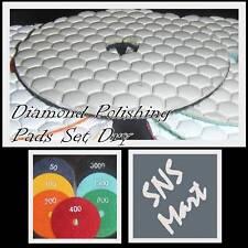 "4"" DIAMOND POLISHING PAD DISCS DRY CONCRETE GRANITE SET"