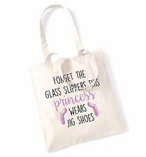 Dimentica il vetro Pantofole Principessa indossa scarpe JIG Tote Bag Danza Balletto tap1643