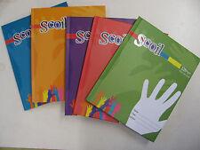 Scoil Hardback Books School Exercise Feint Line Ruled Workbooks Study Writing