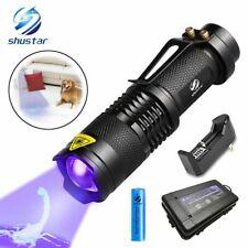 UV Flashlight Ultra Violet Light With Zoom Torch Mini UV Black Light Detector