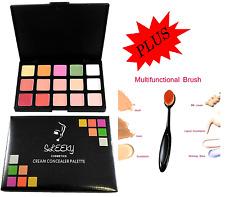 New 15 Colour Concealer Palette kit Face Makeup Contour Cream With Brush SQ3