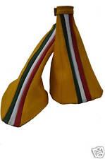FITS ALFA ROMEO 156 GEAR HANDBRAKE LEATHER SET FLAG