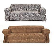 Zebra Leopard Pattern Slip Cover For Sofa/Loveseat/Chair