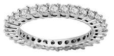 Natural Diamond VVS1 D 1.10Ct Eternity Wedding Ring Prong Set White Gold 1.80MM