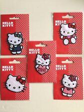 Officiel Hello Kitty Motif Appliqué Patchs à Repasser 7cm X 6.5cm Noeud Fleur