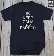 Keep Calm Im A Barber T-shirt Funny Barber Shirt Hairstylist Barber T-shirt