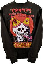 Unisex Nero Felpa crampi Nye Garage Psychobilly Punk Horror Skull XS-7XL