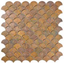 Mosaik Fliese Kupfer kupfer Fächer braun WC Küche Art:49-1504_b | 1 Matte