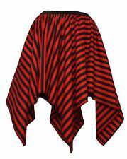 Womens Red & Black Stripe Pirate Hankerchief Fancy Dress Dance Skirt
