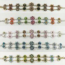 Pilgrim Armband, Armkette, Modeschmuck, Schmuck, Blüte,Rosa, Türkis, Braun, Grün