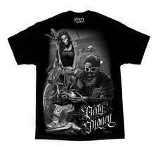 DGA David Gonzales Art Ride or Die Bonnie & Clyde Dirty Money Tattoo Mens Shirt