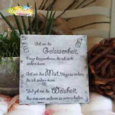 Shabby Style -Gelassenheit-Mut-Weisheit- Holzschild Geschenk Dekoration HandsArt