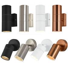 Up Down & Spotlight Outdoor Modern Wall Light Black/Copper/White/Steel Litecraft