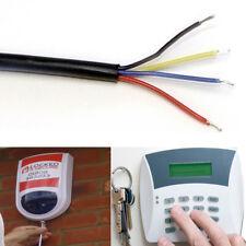 4 Core Alarm Cable Black, Flexible Low Voltage Signal, Intruder Security Alarms