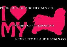 VRS LOVE My Dog HAVANESE Bichon Heart Adoption Shelter Rescue CAR VINYL DECAL