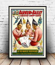 Barnum & Bailey , Vintage USA Circus advertising Reproduction poster, Wall art.