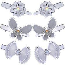 2 fermacapelli forcina mollette capelli strass con fiore fiocco farfalla nozze