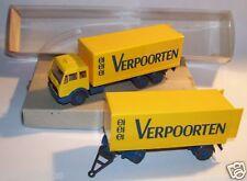 MICRO WIKING HO 1/87 CAMION MB MERCEDES 1632 TRAILER REMORQUE VERPOORTEN IN BOX
