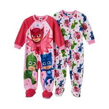 PJ Masks girls One Piece Fleece Blanket Sleepers NWT