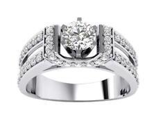 Solitaire Anniversary Ring I1 H 1.20Ct Genuine Diamond Prong Set 14Kt White Gold