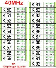 bis 2 Stück - 40 MHz Quarz Empfänger  K50, K51, K52, K53, K56, K58 oder K86