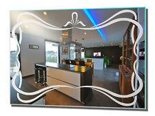 Wohnraumspiegel Rahmen 1 Motivspiegel Spiegel mit Gravur Wohnzimmer Wandspiegel