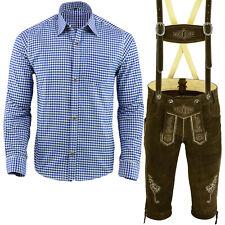 Trachtenset Trachten Set Herren Trachtenlederhose Hemd Trachten Set 46-62 LE2BH