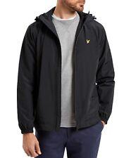 Lyle & Scott Men's Zip Through Jacket Lightweight Mesh Lined Casual Hooded Coat