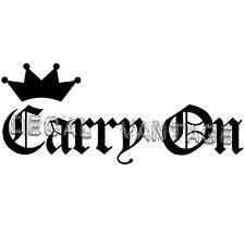 Carry On Crown Vinyl Sticker Decal JDM Race Drift - Choose Size & Color