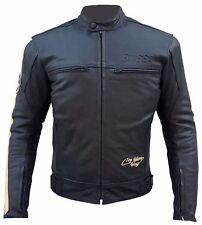 Herren Retro Biker Lederjacke Motorrad Jacke Caffe Race Chopper Vintage XL XXL
