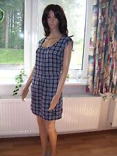 Roxy Minikleid Sommerkleid IND BONDI PLD blau kariert Trägerkleid Kleid M neu