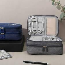 Travel Portable Cable Organiser Bag Electronics Accessory Case Gadget Pouch DP