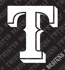 Texas Rangers vinyl decal sticker car truck motorcycle MLB baseball